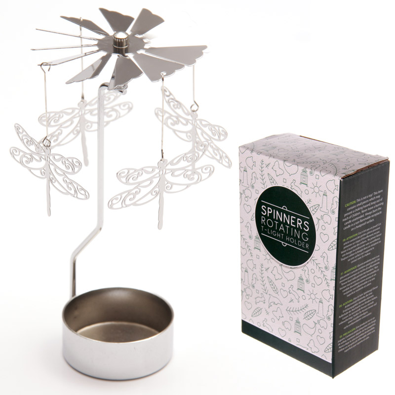 Dragonfly Design Metal Tealight Spinner