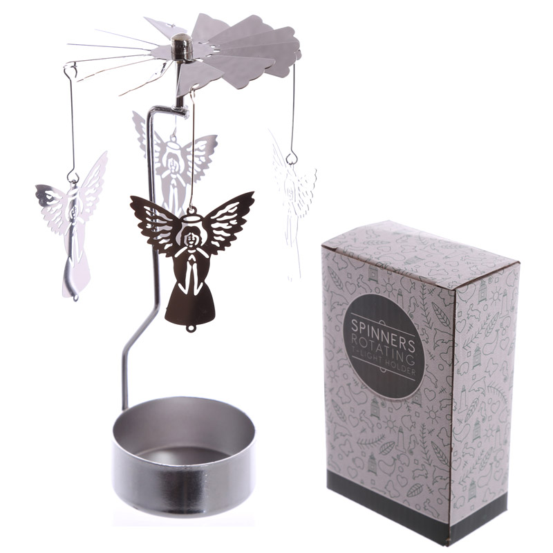 Angel Design Metal Tea Light Spinner